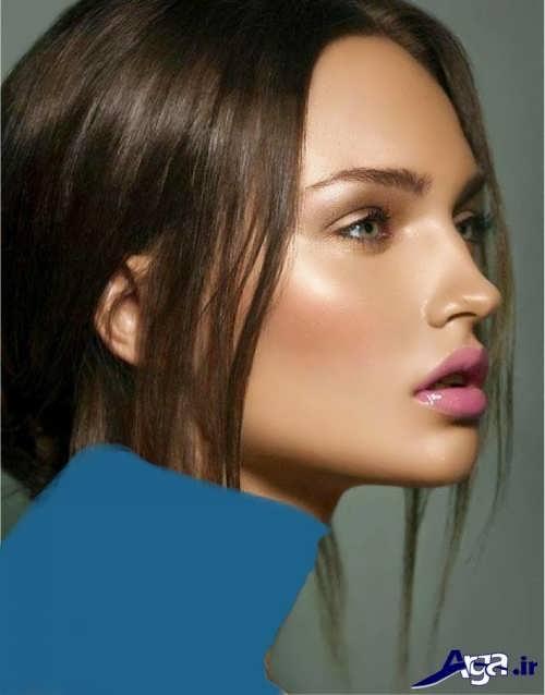 مدل آرایش لایت برای صورت های لاغر
