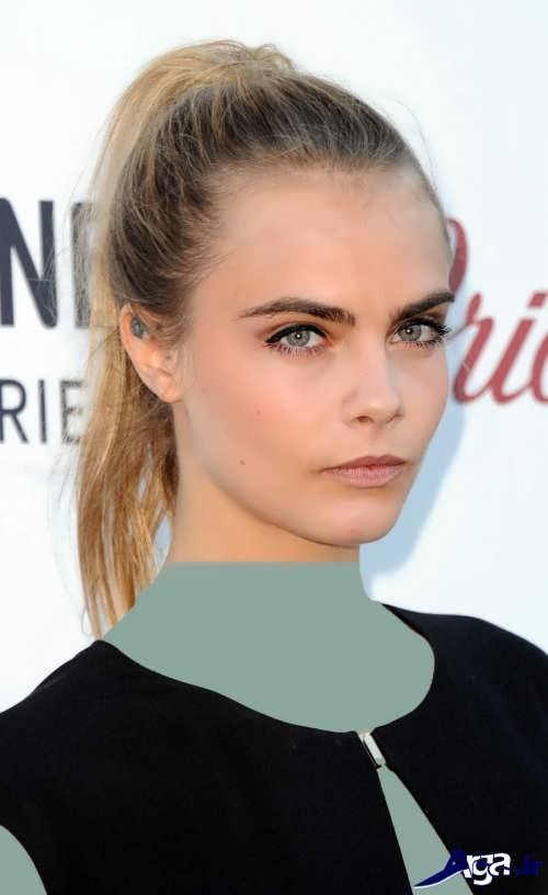 مدل آرایش دخترانه برای صورت لاغر