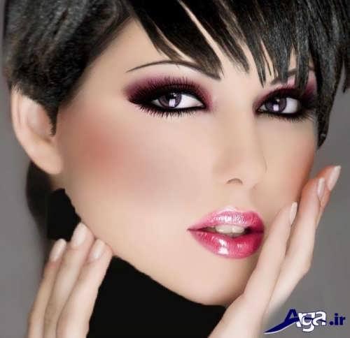 مدل آرایش برای صورت کشیده و لاغر زنانه