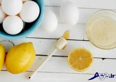 ماسک سفیده تخم مرغ و لیمو ترش