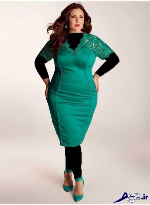 لباس مجلسی کوتاه برای افراد چاق