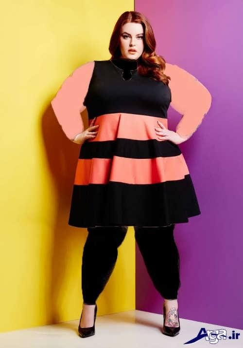 مدل های لباس مجلسی بلند برای خانم ها با اندام چاق