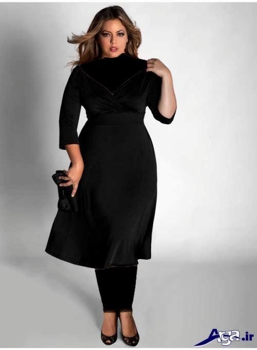مدل لباس مجلسی برای افراد چاق با رنگ مشکی