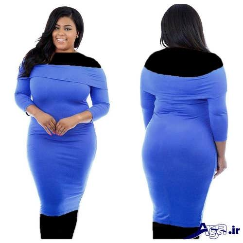 مدل لباس مجلسی برای خانم ها با اندام چاق