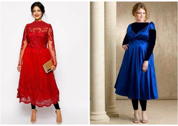 مدل لباس مجلسی برای افراد چاق با طرح های زیبا
