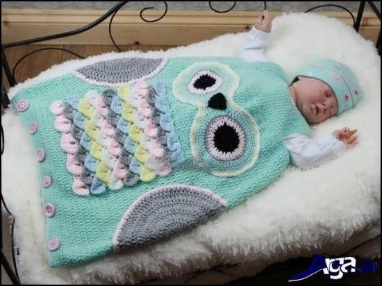 مدل پتو بافتنی برای نوزادان دختر و پسر