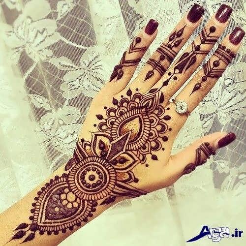 مدل حنا روی دست عروس