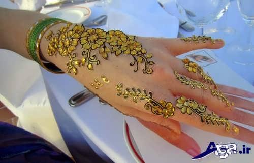 مدل حنا روی دست عروس با طرح های زیبا و مدرن