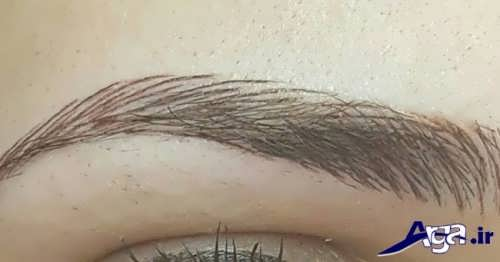 مدل ابرو 2017 پهن و دخترانه