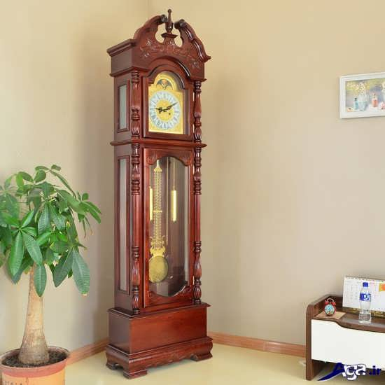 مدل ساعت ایستاده چوبی