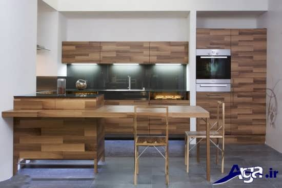 مدل آشپزخانه اپن با طراحی مدرن