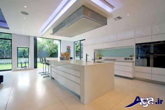 مدل آشپزخانه اپن زیبا و شیک