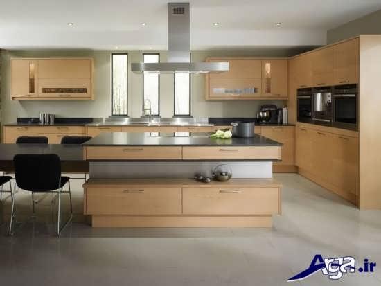 مدل اپن آشپزخانه با طراحی شیک و زیبا