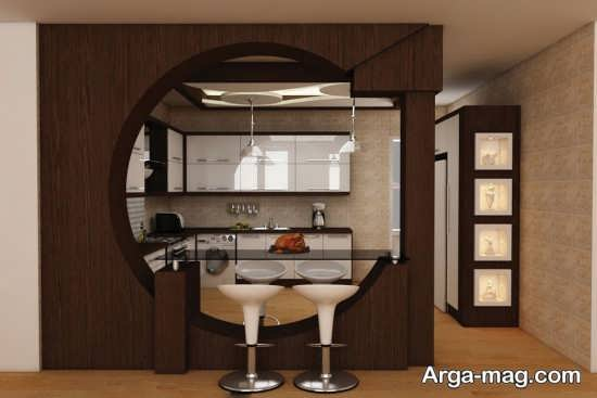 مدلی از آشپزخانه اپن