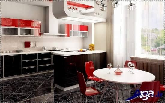 مدل اپن زیبا برای آشپزخانه های کوچک