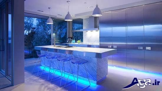 مدل اپن آشپزخانه مدرن و لوکس