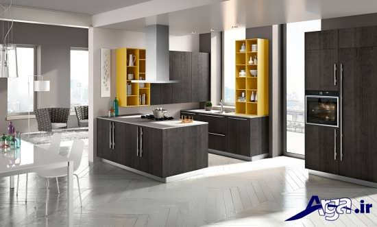 مدل اپن آشپزخانه با طراحی شیک و متفاوت