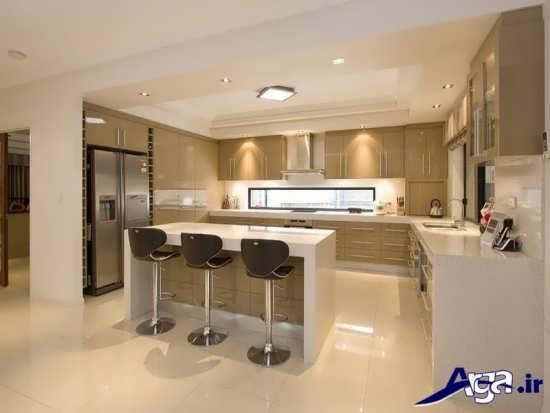 مدل زیبا و متفاوت اپن آشپزخانه