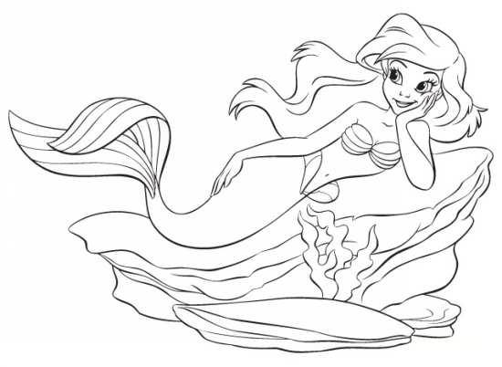 رنگ آمیزی و آموزش مرحله به مرحله کشیدن نقاشی جالب و زیبا پری دریایی