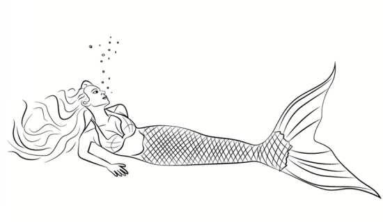 انواع نقاشی های جالب پری دریایی