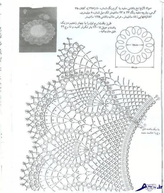 طرح زیبا برای قلاب بافی