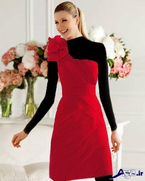 مدل لباس ساتن کوتاه با طرح های زیبا و متنوع