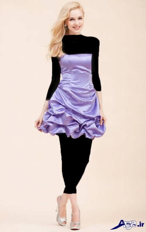 انواع مدل لباس مجلسی ساتن