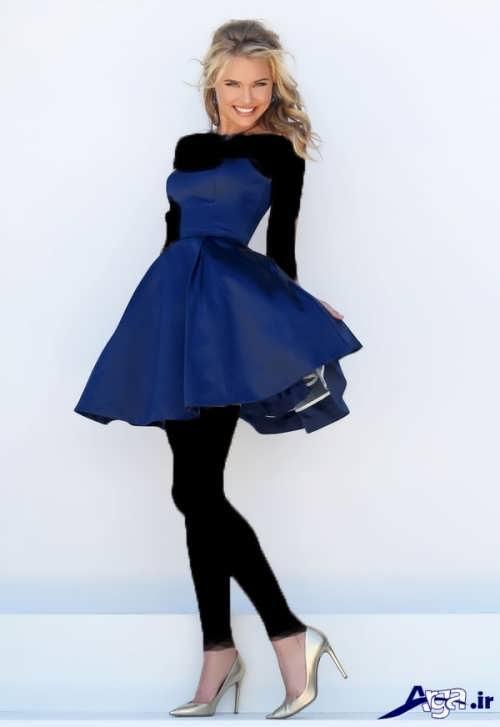 مدل لباس مجلسی با طرح کوتاه