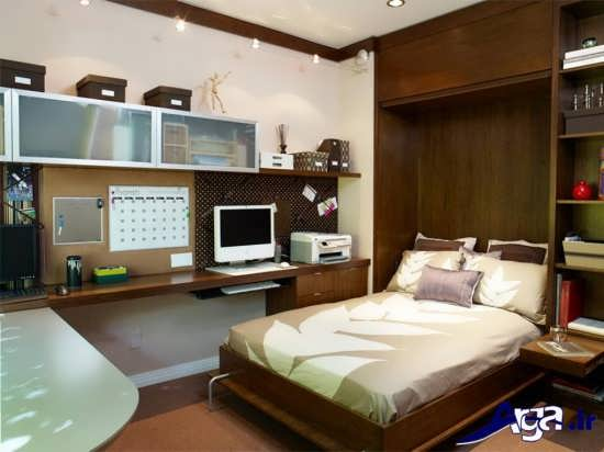 دکوراسیون شیک و زیبا اتاق خواب کوچک