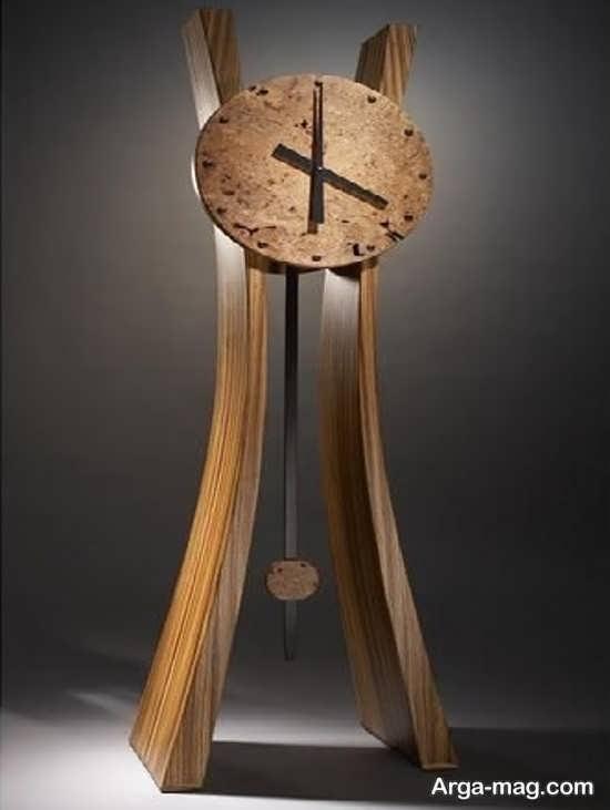 ساعت ایستاده چوبی با طرح فانتری