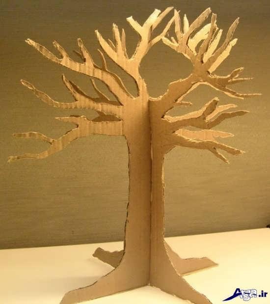 ساخت درخت با کارتن