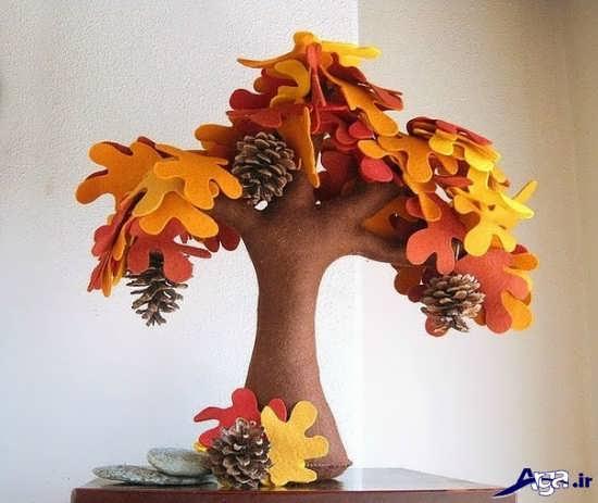 ساخت کاردستی درخت با فوم