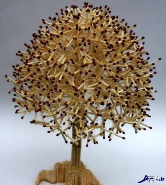 ساخت درخت با چوب کبریت