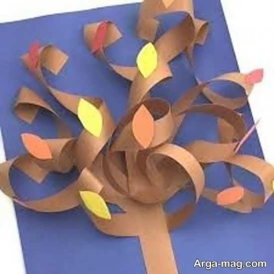 خلاقیت درخت با کاغذ