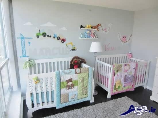اتاق نوزاد دوقلو