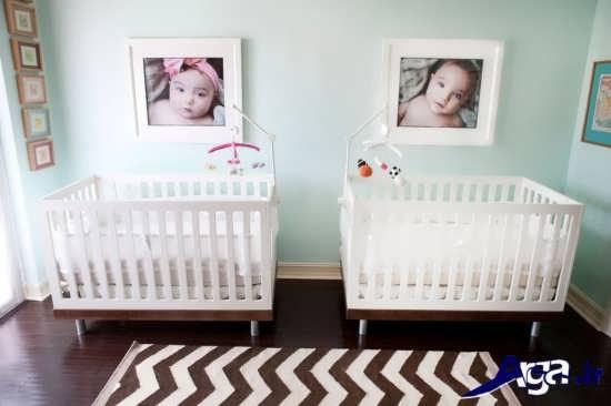 دکوراسیون داخلی اتاق نوزاد دوقلو