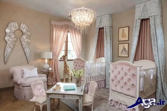 طراحی دکوراسیون اتاق برای نوزاد دوقلو