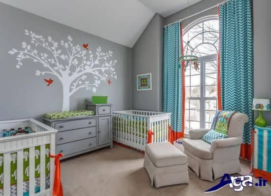 دکوراسیون اتاق نوزاد با طراحی زیبا و شیک