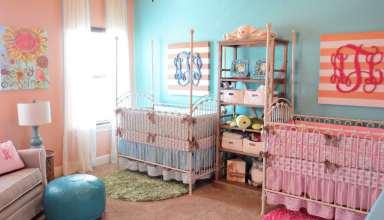 دکوراسیون اتاق نوزاد دوقلو با طراحی مدرن و زیبا
