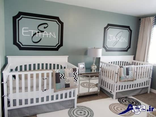دکوراسیون شیک و زیبا اتاق نوزاد