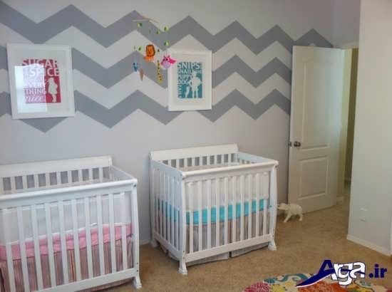 طراحی دکوراسیون داخلی برای اتاق نوزاد دوقلو
