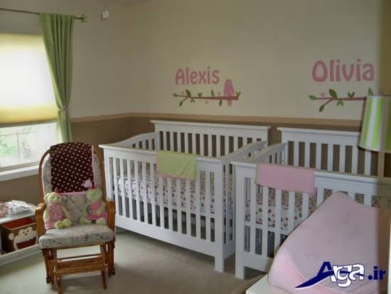اتاق نوزادان دوقلو با طراحی بی نظیر و کاربردی