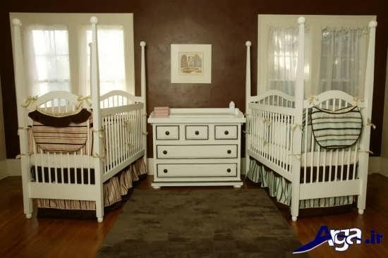 دکوراسیون زیبا و متفاوت برای اتاق نوزادان دوقلو