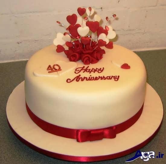 تزیین کیک برای سالگرد ازدواج