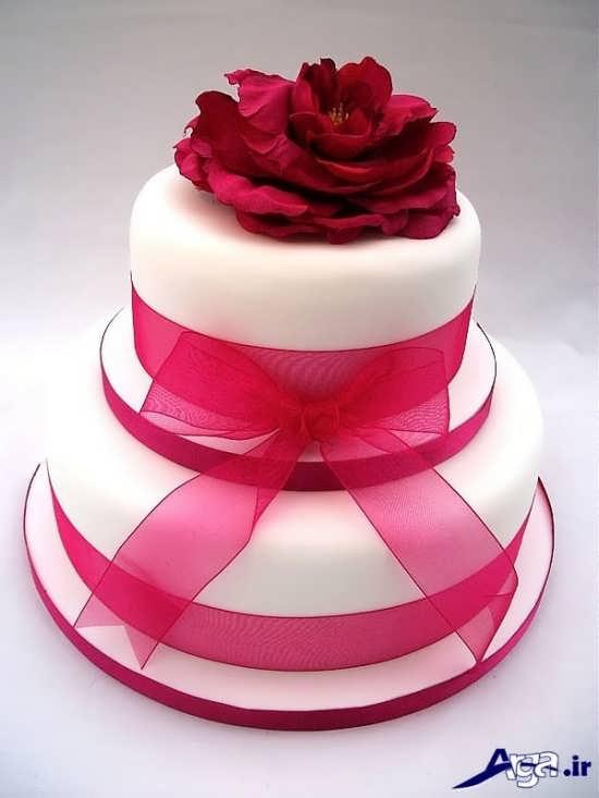تزیین ساده و زیبا کیک سالگرد ازدواج