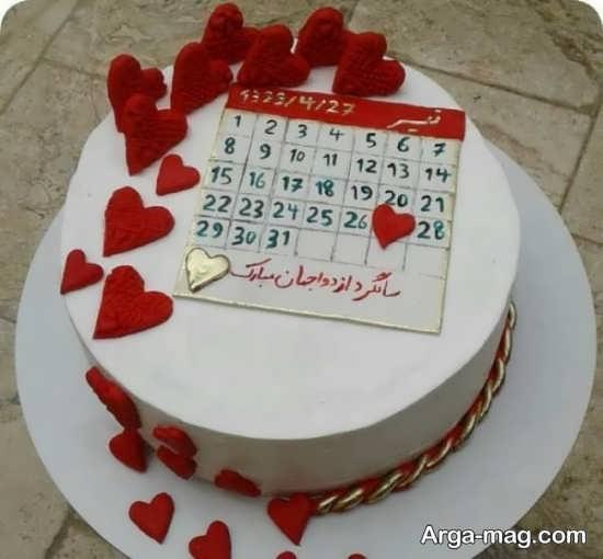 تزیینات زیبای کیک سالگرد ازدواج