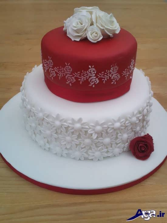 تزیین زیبا و خلاقانه کیک سالگرد ازدواج
