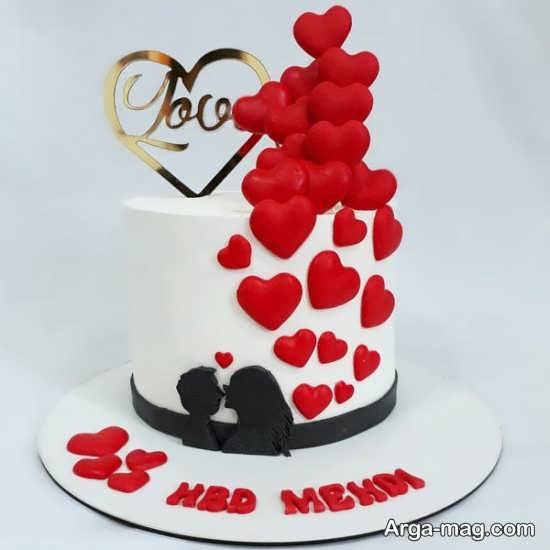 مدل تزیینات کیک سالگرد ازدواج