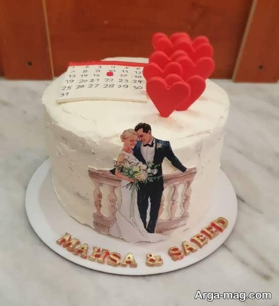 تزیینات کیک سالگرد ازدواج