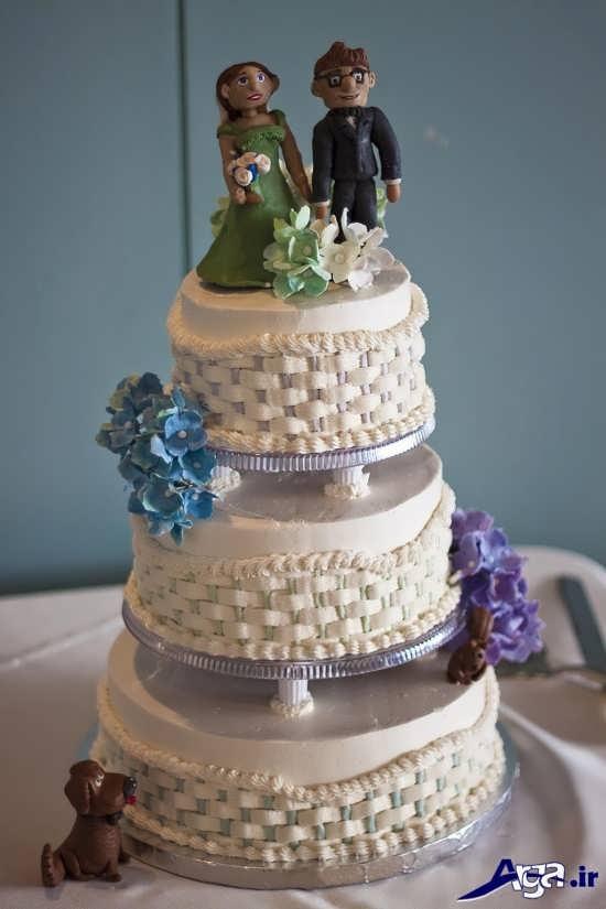 تزیین زیبا و فانتزی کیک برای سالگرد ازدواج